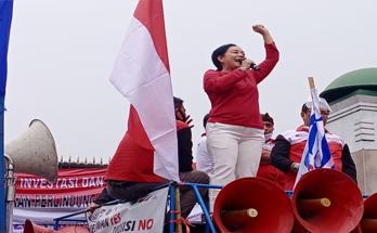 Demo Di Gedung DPR, KSBSI Desak Penghapusan Pasal RUU Cipta Kerja Yang Merugikan Buruh