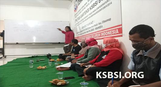 Perkuat SDM, DPC FSB GARTEKS Kabupaten Bogor Gelar Pelatihan Media Publik