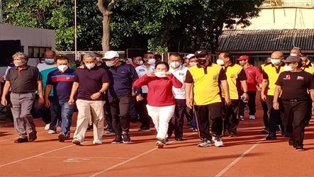 KSBSI Penuhi Undangan Kapolda Metro Jaya Dalam Acara Senam Bersama dan Coffee Morning
