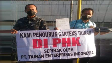 Pasca PHK Sepihak, FSB GARTEKS DKI Jakarta Tegaskan Tetap Membela Pengurusnya di PT. Tainan Enterprises Indonesia
